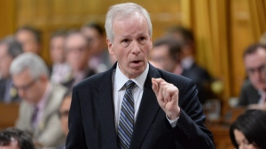 Foreign Affairs Minister Stephane Dion answers a question during Question Period in the House of Commons in Ottawa, Wednesday, April 13, 2016. THE CANADIAN PRESS/Adrian Wyld