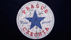A sign with the word 'Czechia' on a t-shirt in a store in Prague, Czech Republic, on April 14, 2016. (Petr David Josek / AP)