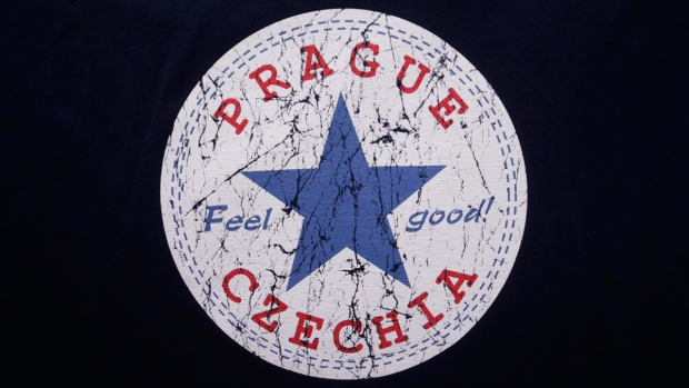 'Czechia' on a t-shirt in a store in Prague