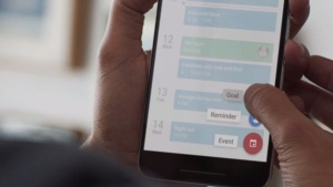 Goals in Google Calendar seen in this image from video. (YouTube)