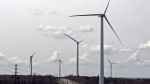 Wind turbines generate power on Dalhousie Mountain, N.S. on April 23, 2010. (THE CANADIAN PRESS/Andrew Vaughan)