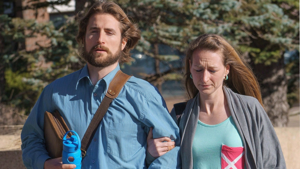 David Stephan and his wife Collet Stephan arrive at court in Lethbridge, Alta. on March 10, 2016. (David Rossiter / THE CANADIAN PRESS)