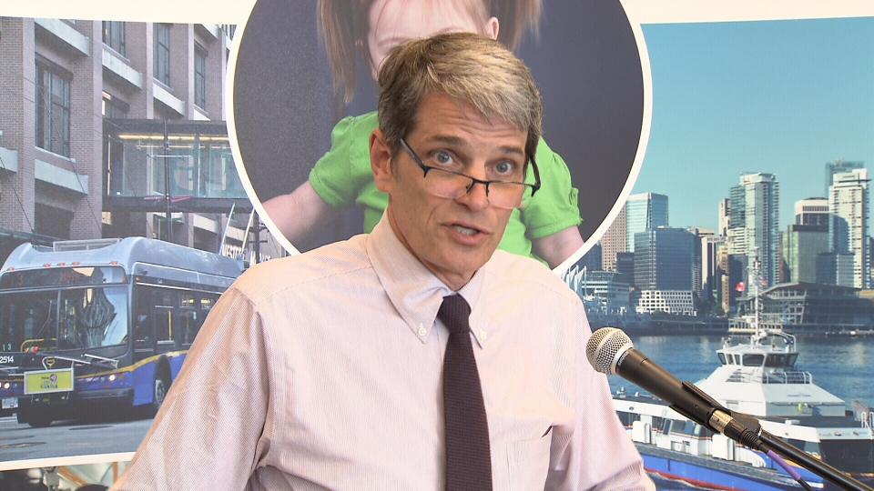 TransLink CEO Kevin Desmond speaks at a press conference in this April 2016 file image.