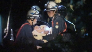 Canada AM: Baby rescued from rubble