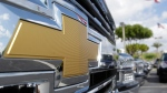 Chevrolet logo at Miami Lakes AutoMall in Miami Lakes, Fla., on Oct. 1, 2014 (Wilfredo Lee / AP)
