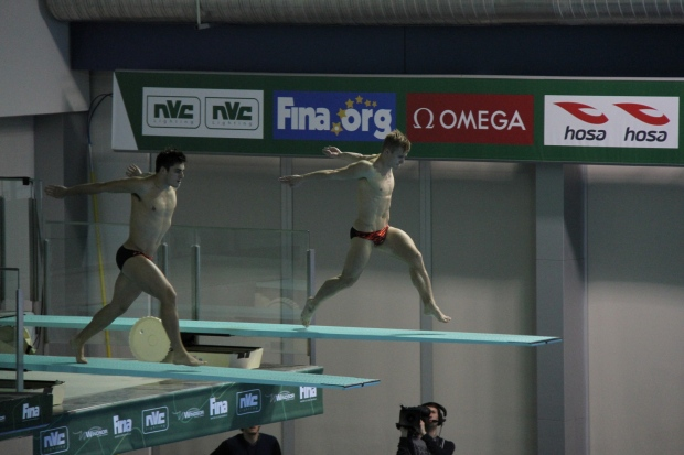 Some of the world's best divers compete at the 2016 FINA/NVC Diving World Series in Windsor, Ont., on Friday, April 15, 2016.  (Melanie Borrelli / CTV Windsor)