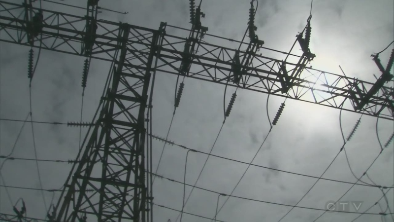 File photo of hydro lines.