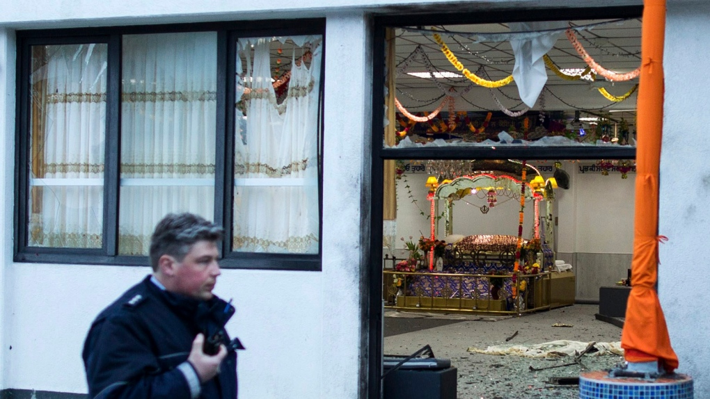 Sikh temple explosion Germany