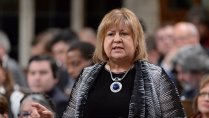 Labour Minister MaryAnn Mihychuk answers a question during Question Period in the House of Commons in Ottawa, Monday, April 11, 2016. THE CANADIAN PRESS/Adrian Wyld