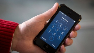 This Feb. 17, 2016, file photos shows an iPhone in Washington. The government hack of an iPhone used by a San Bernardino killer serves as a reminder that phones and other electronic devices aren't impenetrable vaults. (AP / Carolyn Kaster, File)