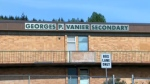 Vanier Secondary School in Courtenay is pictured. Island Health says a COVID-19 exposure was reported at the school in Mid-February: 2016 (CTV News)