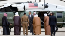 U.S. President Barack Obama escorted to Marine One