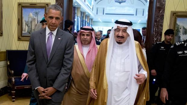 Barack Obama and King Salman