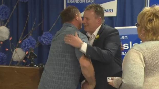 Progressive Conservative candidate Len Isleifson won the formerly orange riding, sweeping NDP incumbent Drew Caldwell.