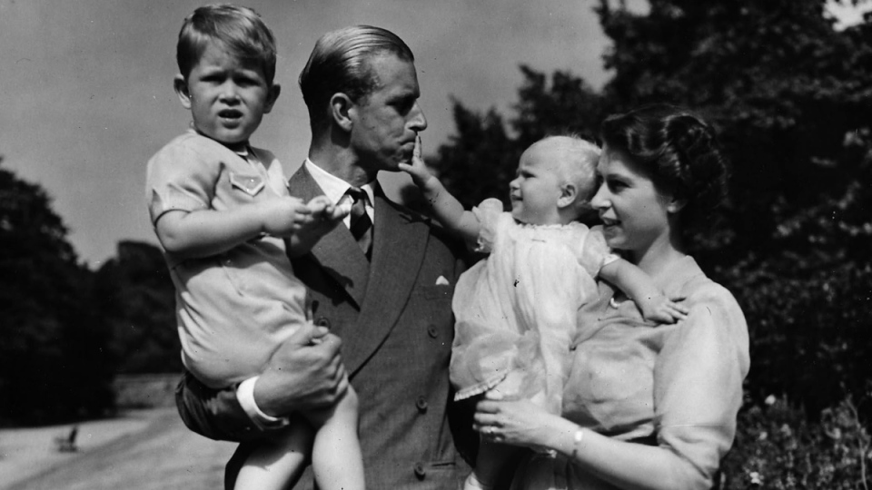 Princess Elizabeth and family in 1951