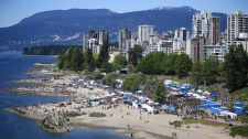 Vancouver 420 rally sunset beach