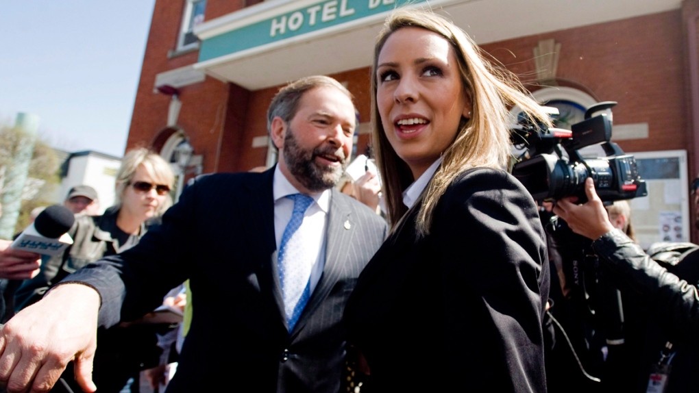 Ruth Ellen Brosseau with Tom Mulcair