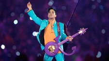 Prince performs at Dolphin Stadium