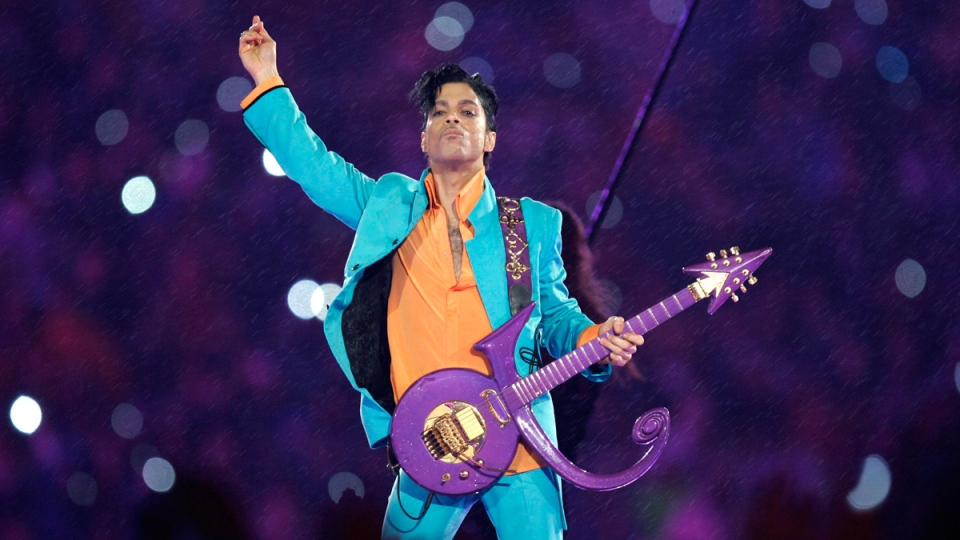 Prince performs at Dolphin Stadium in Miami on Feb. 4, 2007. (Chris O'Meara / AP)