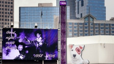 Tribute for Prince at Target Field in Minneapolis