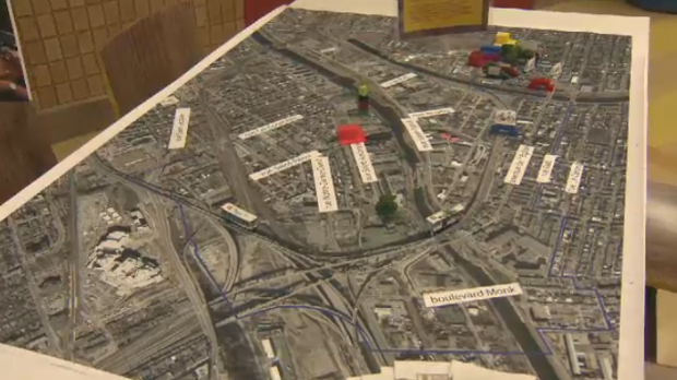 A model of the new Turcot Interchange