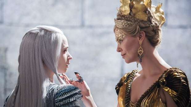 Emily Blunt and Charlize Theron in 'The Huntsman: Winter's War'. (Giles Keyte  / Universal Pictures)
