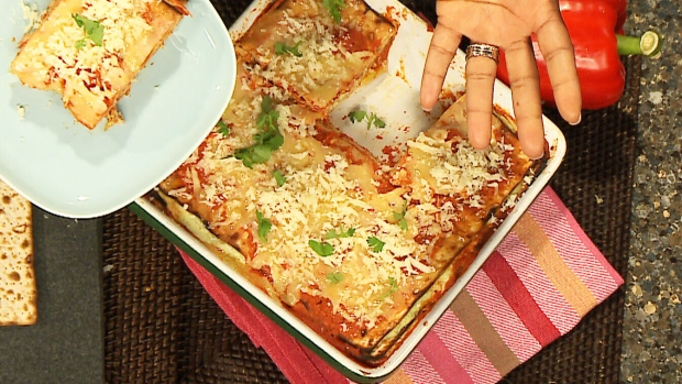 A healthy twist on Passover meals with a new spin on Lasagna. (CTV Canada AM)