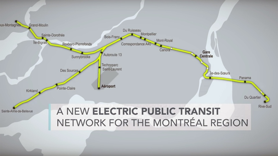 The proposed electric light rail service