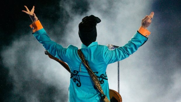 Prince performs at Super Bowl XLI at Dolphin Stadium in Miami, on Feb. 4, 2007. (Chris Carlson / AP)