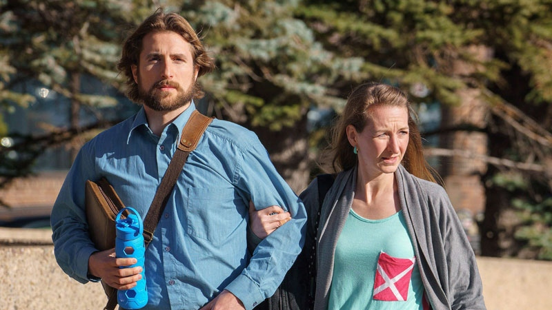 David Stephan and his wife Collet Stephan arrive at court on Thursday, March 10, 2016 in Lethbridge, Alta. (THE CANADIAN PRESS/David Rossiter)
