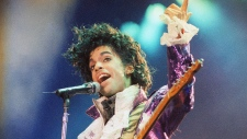 Prince performs in California in 1985