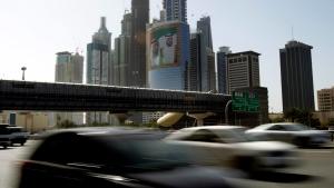 Cars drive on Sheikh Zayed's highway in Dubai, United Arab Emirates, on March 9, 2011. (Kamran Jebreili / AP)