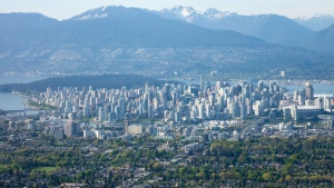 Downtown Vancouver is seen from Chopper 9. (Gary Barndt / CTV Vancouver)