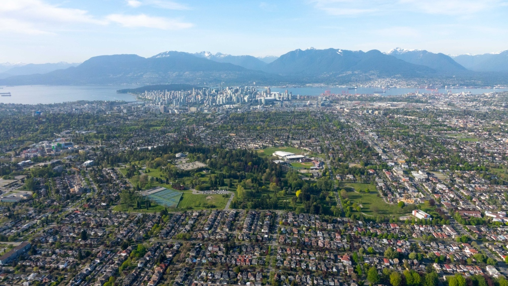 Chopper 9 over Vancouver