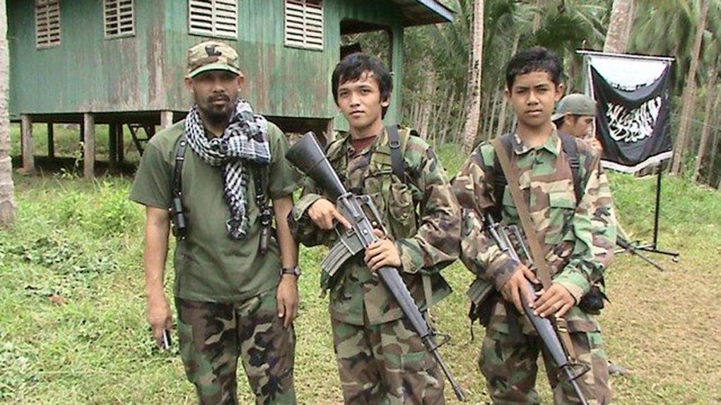 Abu Sayyaf militants in June, 2014