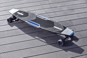 Audi's electric longboard is shown in this concept image. (Audi)