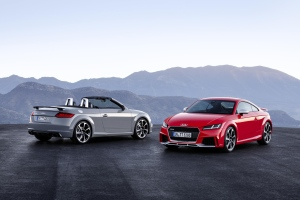 The Audi TT RS Roadster and Coupé are shown in this handout image. (Audi)