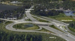 A partial cloverleaf interchange with the Trans-Canada Highway going underneath McKenzie and Admirals is shown in this concept art provided by the Ministry of Transportation and Infrastructure. April 26, 2016.