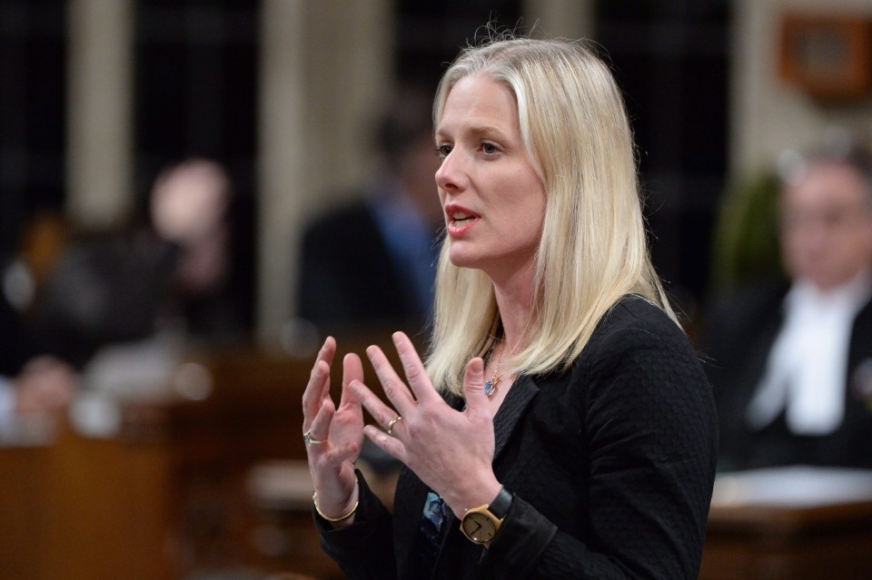 Environment Minister Catherine McKenna answers a question during Question Period in the House of Commons in Ottawa on April 20, 2016. (Adrian Wyld/The Canadian Press)
