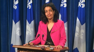 Economic Development Minister Dominique Anglade on April 27, 2016 (CTV Montreal/Maya Johnson)