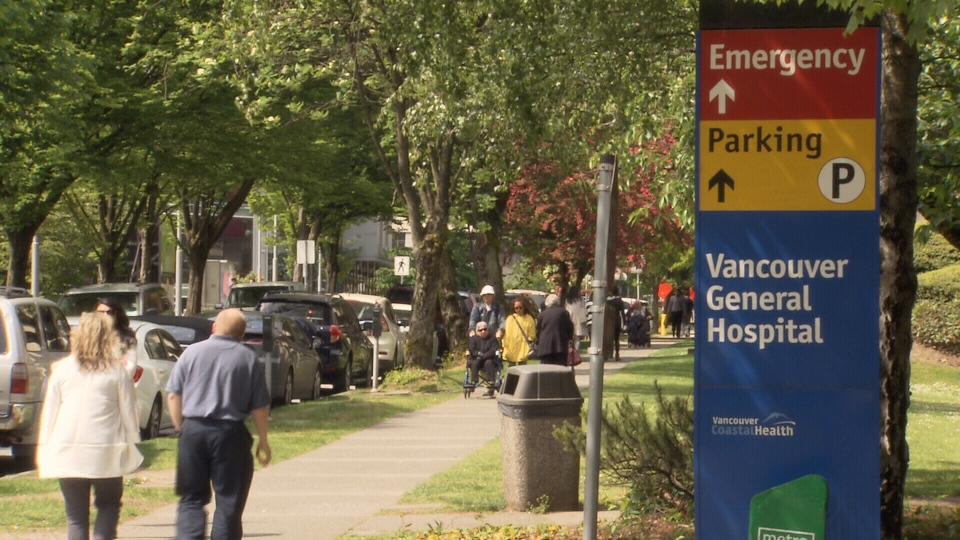 Three proposals to add protections for cyclists along 10th Avenue are raising concerns about access to Vancouver General Hospital. April 27, 2016. (CTV)