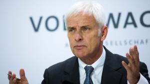 Volkswagen CEO Matthias Mueller in Wolfsburg, Germany, on April 28, 2016. (Markus Schreiber / AP)