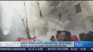 CTV News Channel: Airstrikes hit Aleppo hospital
