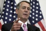 In this Oct. 27, 2015 file photo, then-House Speaker John Boehner of Ohio talks with reporters on Capitol Hill in Washington. (Lauren Victoria Burke / AP Photo)