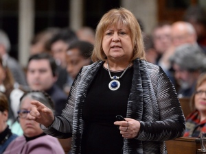 Labour Minister MaryAnn Mihychuk answers a question during Question Period in the House of Commons in Ottawa, Monday, April 11, 2016. (Adrian Wyld / The Canadian Press)