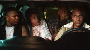 From left: Jason Mitchell, Darrell Britt-Gibson, Jamar Malachi Neighbors and Keegan-Michael Key in a scene from 'Keanu.' (Steve Dietl / Warner Bros. Entertainment)