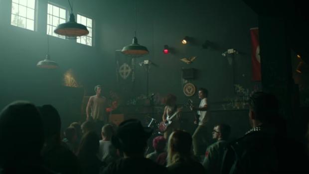 Anton Yelchin, Alia Shawkat and Callum Turner in 'The Green Room.'