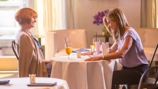 Julia Roberts and Jennifer Aniston in 'Mother's Day.' (Ron Batzdorff / Open Road Films)