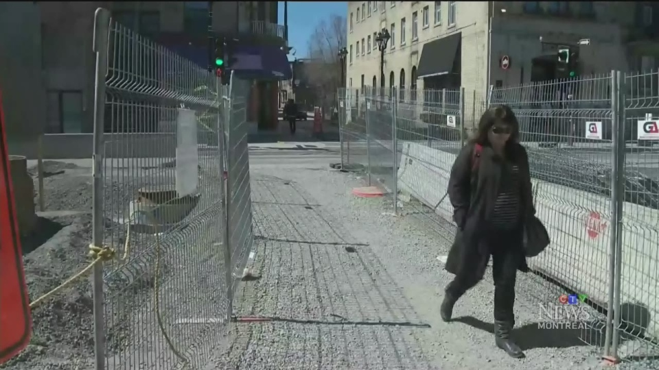 Very few pedestrians are now on a once-thriving St. Denis St. (April 29, 2016)