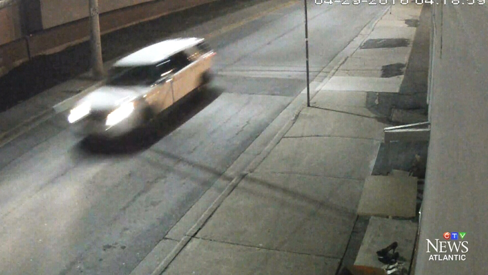 A security camera captured this vehicle allegedly fleeing police early Friday morning in Halifax.